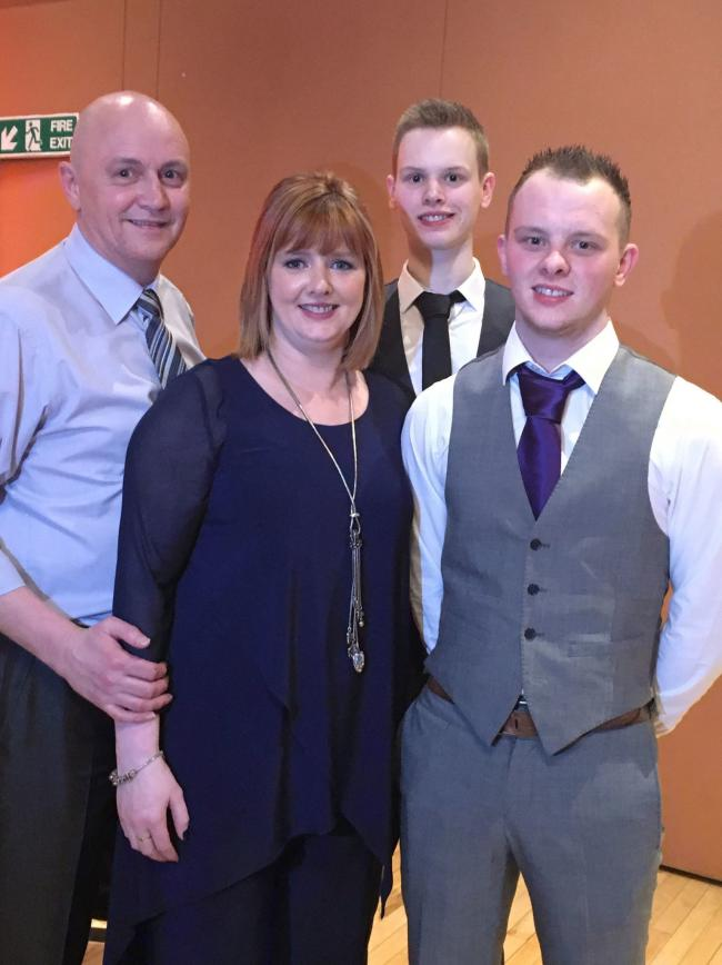 The late Steven McTeague with his family; wife Helen and children Conor and Ryan.