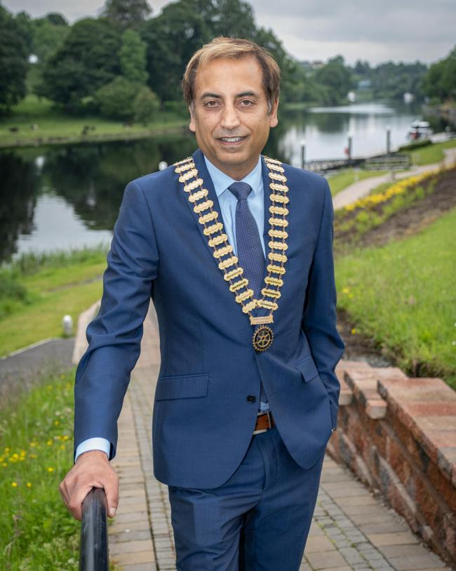 binder Sembhi (Sembs), the new President of the Rotary Club of Enniskillen.