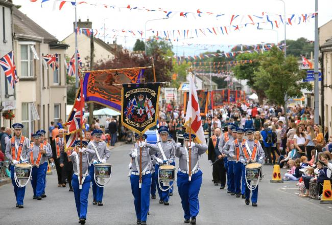 North Fermanagh Young Defenders during last year's Twelfth.