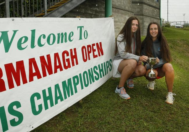 U-18 girls doubles winners were Ciara and Ami Griffin from Enniskillen