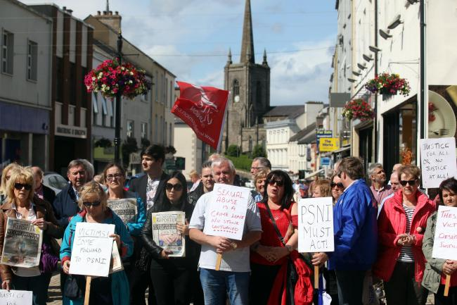 Rally held for alleged child sex abuse victims in Fermanagh