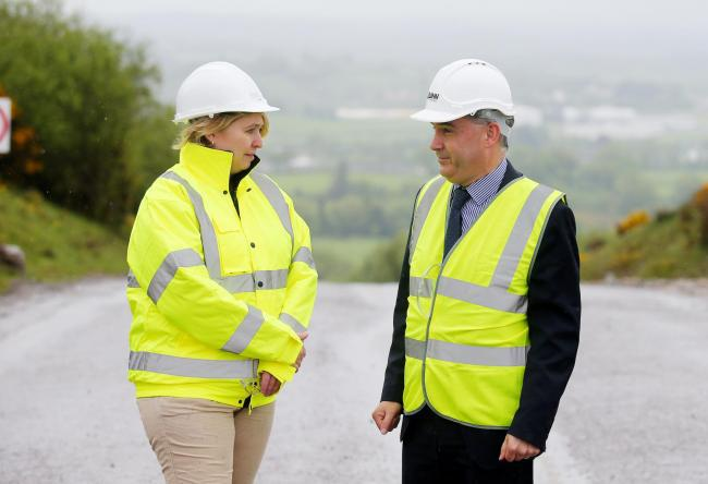 Liam McCaffrey, Quinn Industrial Holdings with for Secretary of State Karen Bradley when she visited the business last year.