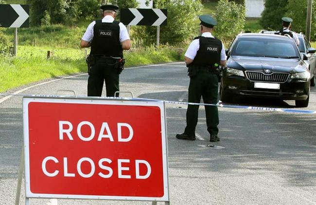 PSNI Road Closed.