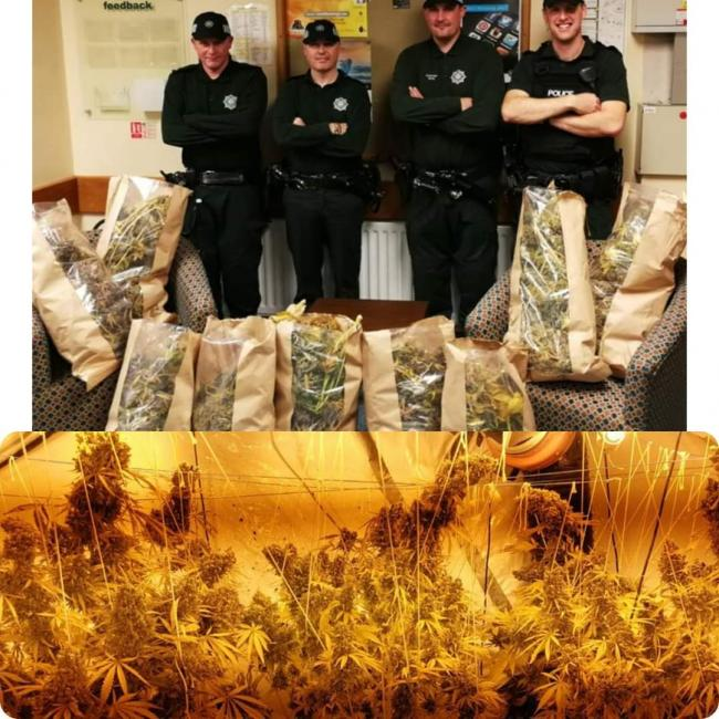 £40,000 of drugs found