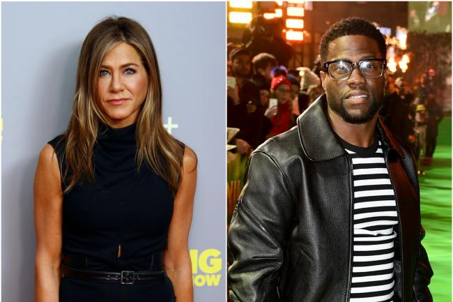 Kevin Hart and Jennifer Aniston honoured at People's Choice Awards