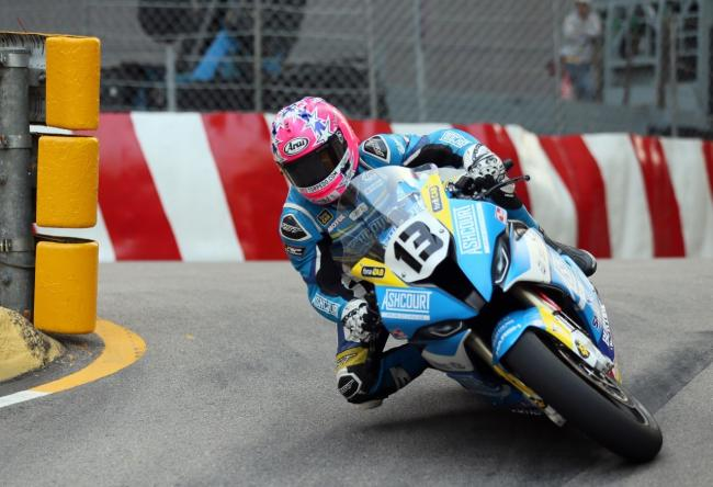Lee Johnston competing on the streets of Macau last weekend.