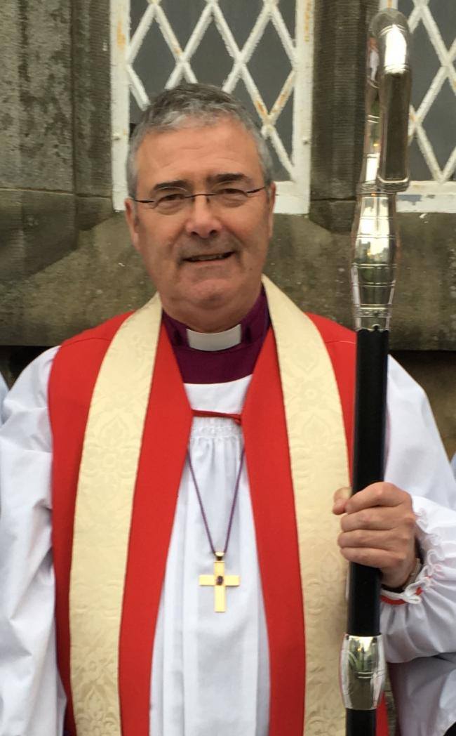 The Bishop of Clogher the Right Reverend John McDowell.