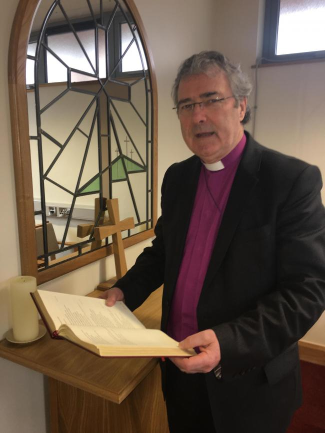 Bishop John McDowell ready to take up his new role