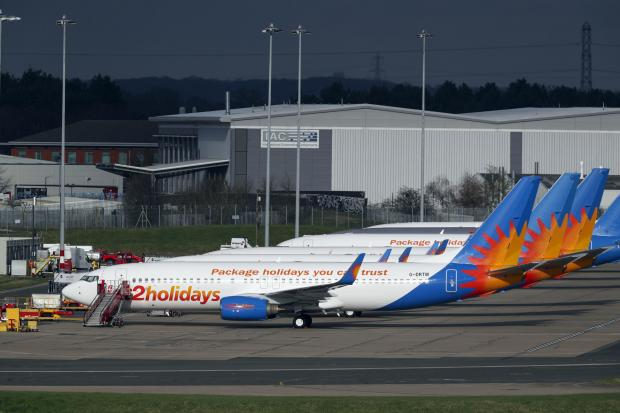 Impartial Reporter: AIRLINE: Several Jet2 planes have been parked up at Birmingham Airport during the pandemic. Picture: Steve Parsons/PA