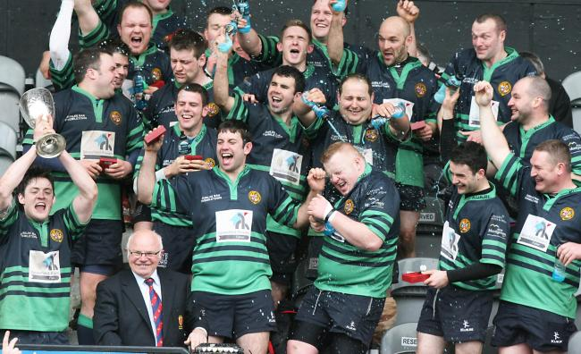 Clogher Valley winning the Town Cup in 2012.