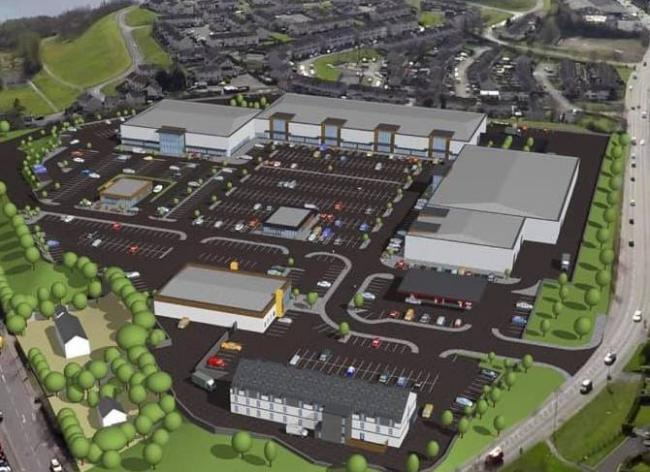 CGI images of the prospective Lakelands Retail and Leisure Park.