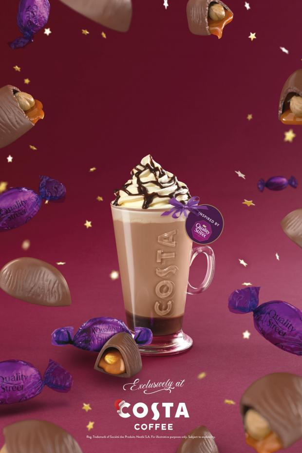 Impartial Reporter: The Quality Street Purple One Latte. Credit: Costa