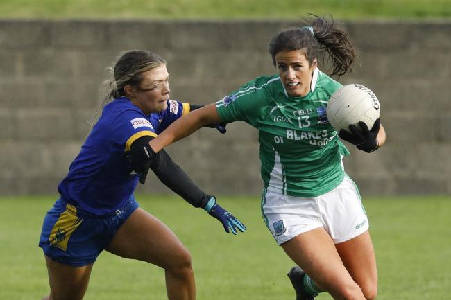 Fermanagh's Joanne Doonan drives forward against Wicklow.