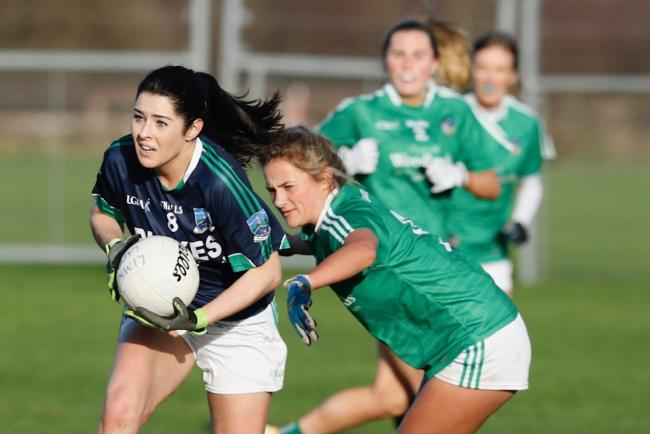 Midfielder Roisin O'Reilly gathers possession during the win over Limerick.