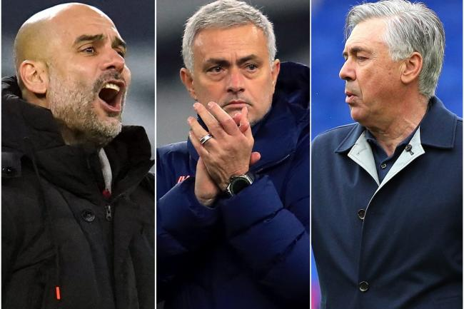 Pep Guardiola, Jose Mourinho and Carlo Ancelotti have all enjoyed time at the top this term (PA)