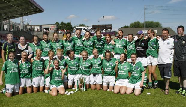 Impartial Reporter: Fermanagh Ladies celebrate after victory over Down in the Ulster final.