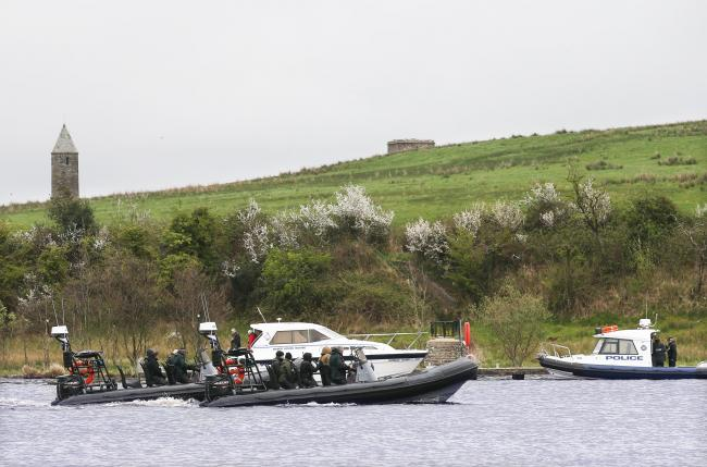 Police and emergency services at the scene involving over night boating tragety on Devenish Island Enniskillen. Picture by John McVitty - 07771987378
