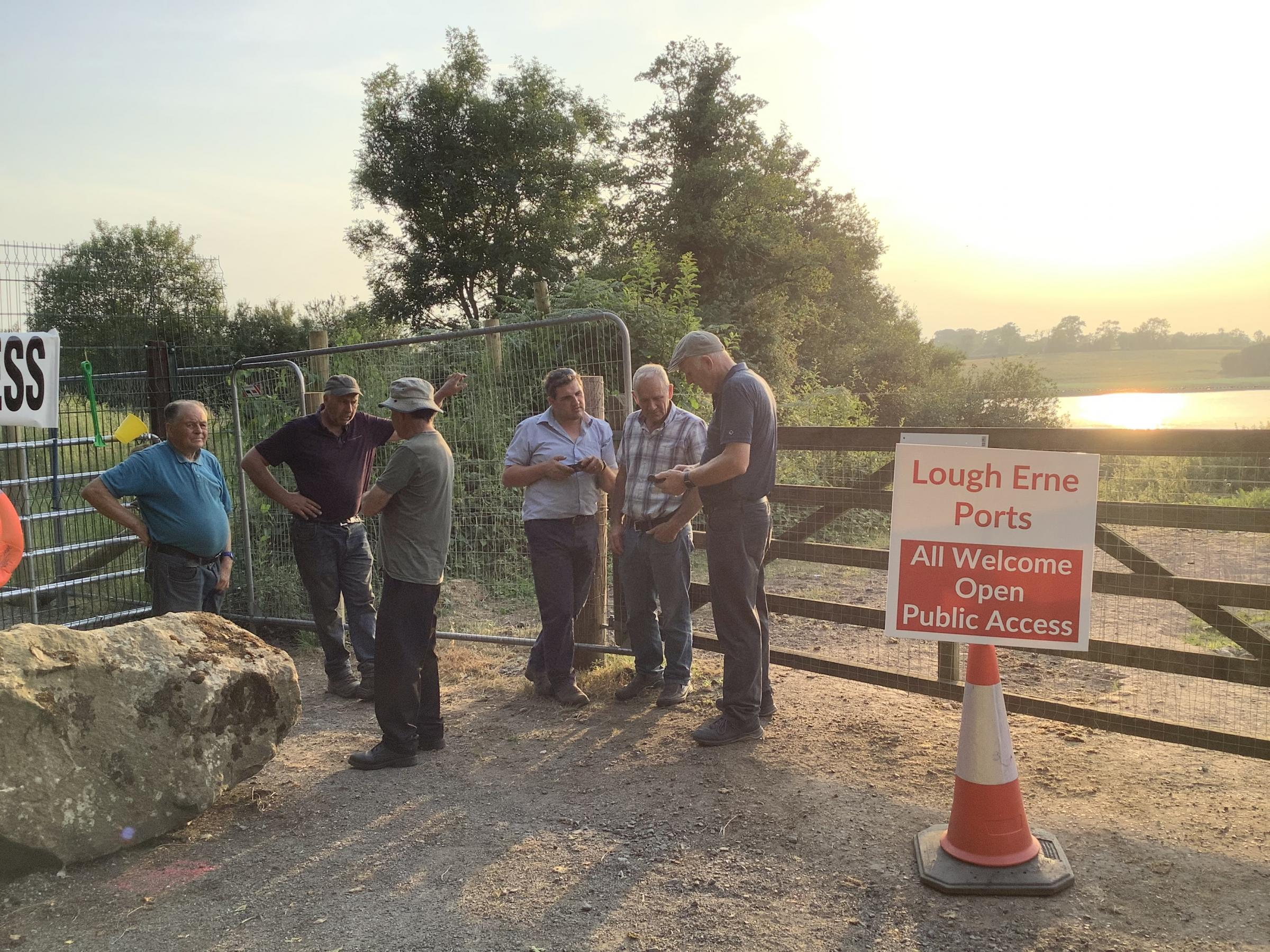 Dozens protest in Fermanagh voice anger at quay road closure