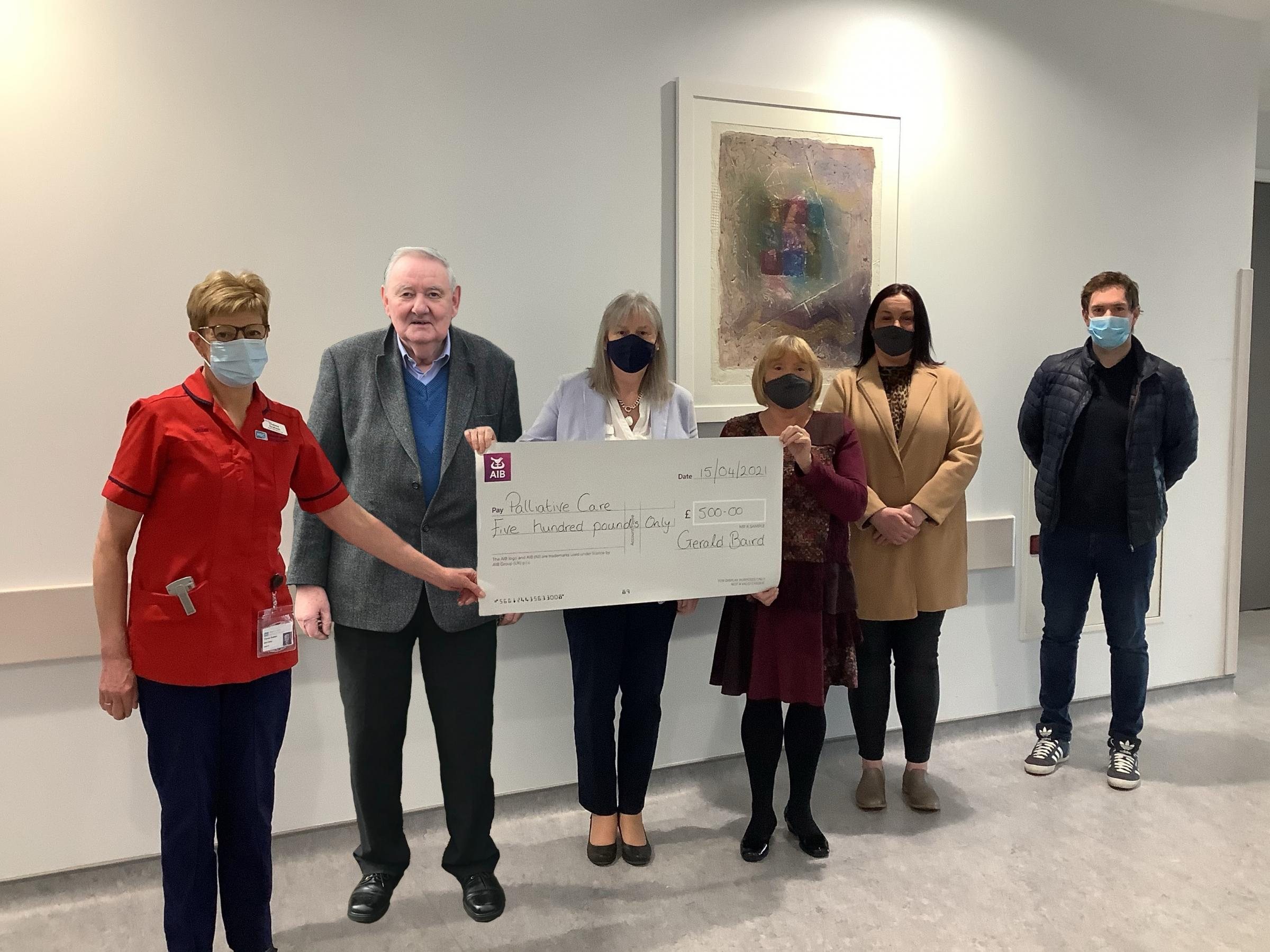 Baird family donate to Omagh Palliative Care Ward