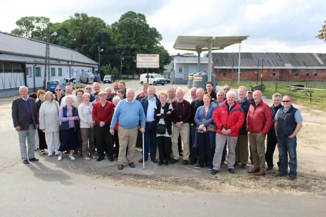 The group representing the UFU in Fermanagh on a tour of the dairy farm in Poland.
