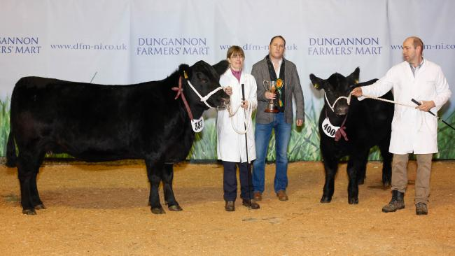 The futurity heifer class was won by Alan and Lana Cheney's Lana Elass N465 with bull class. The Woodvale Cup was presented by judge, Shane McKiernan.