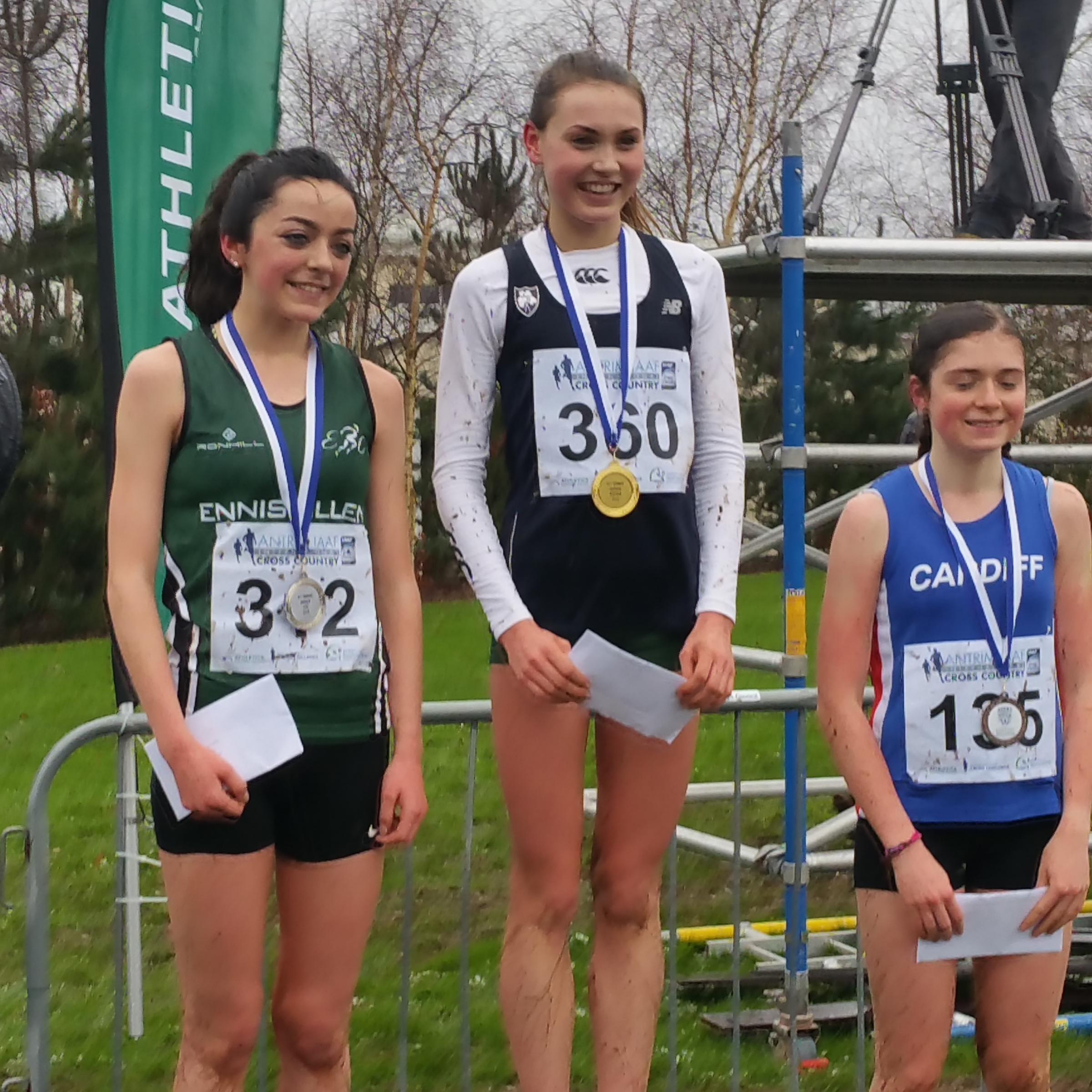 Edel Monaghan (left) secured silver in Antrim at the weekend.