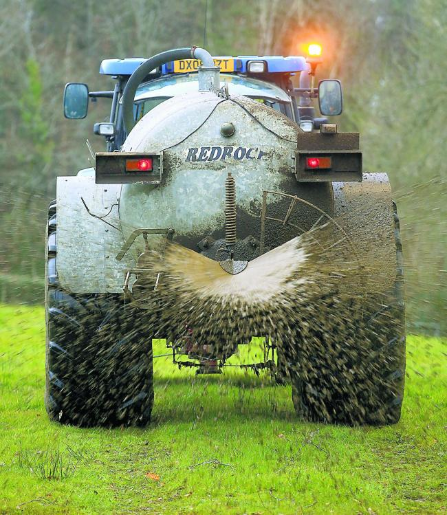 Stay safe with slurry when trying to beat the spreading deadline this weekend
