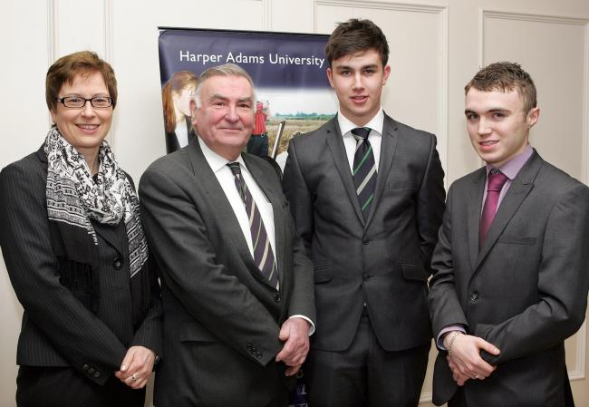 Olwen Gormley, Vaughan Trust; Basil Bayne, Harper Adams; James Law and Jack McFarland.