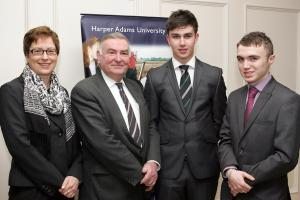 Joint Harper Adams winners of Vaughan Trust scholarship