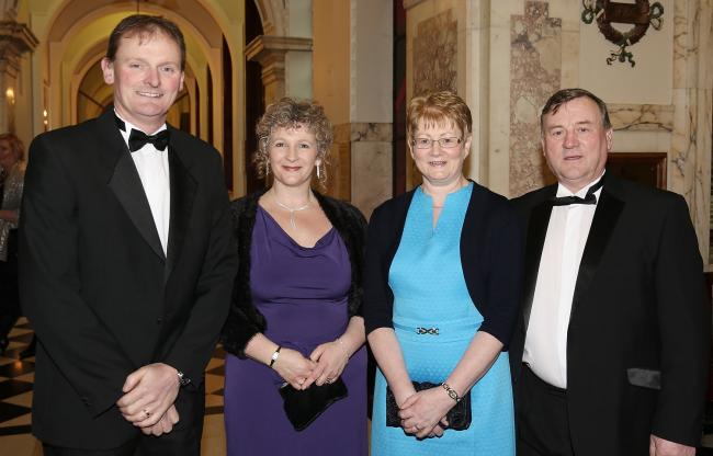 Attending the UFU dinner in Belfast City Hall were Fermanagh representatives including(from left); David Brown, Fermanagh County Chairman, UFU and his wife, Mary; Helen Wilson and Andy Wilson.