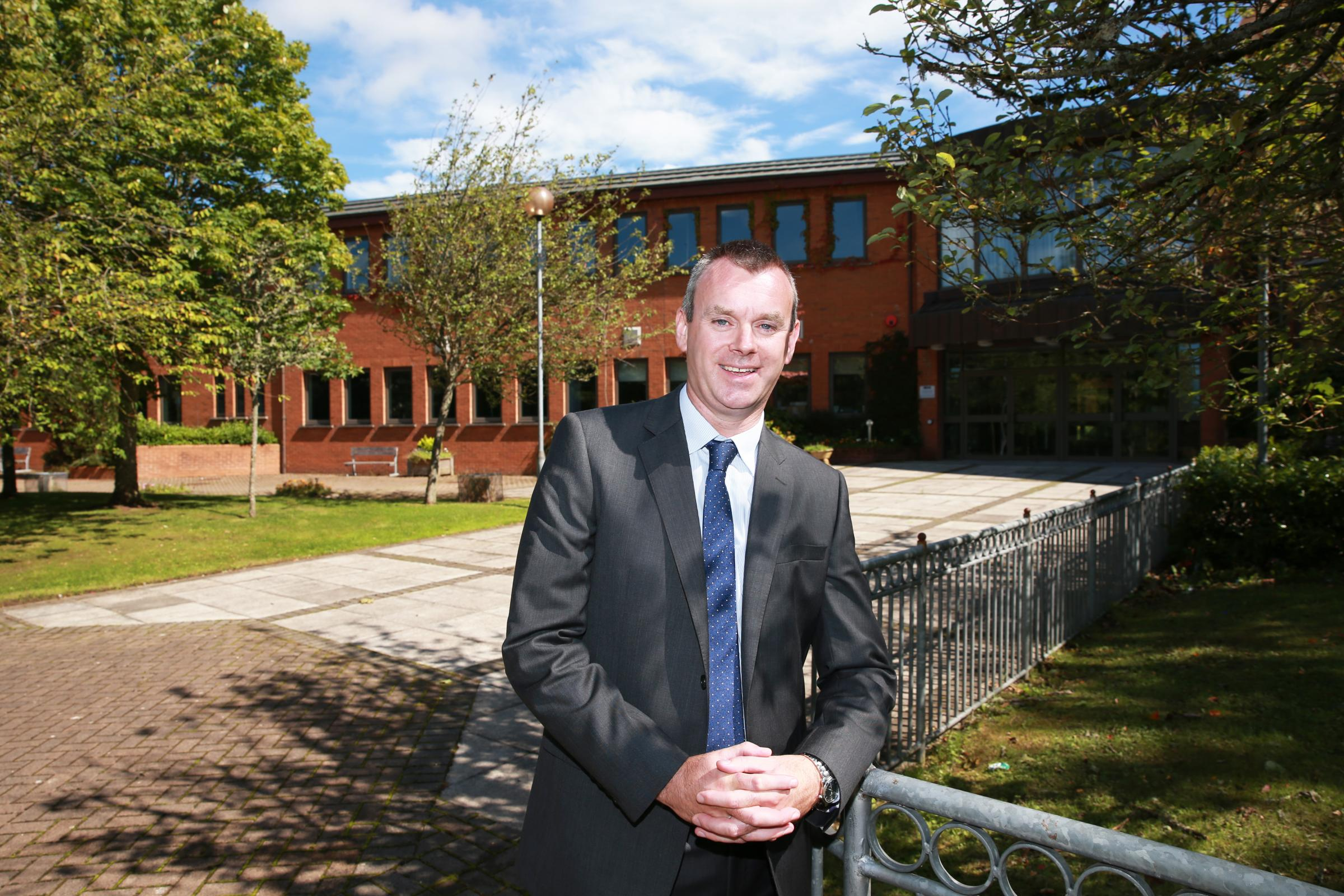 Mark Henry, new principal of St. Michael's College, Enniskillen.