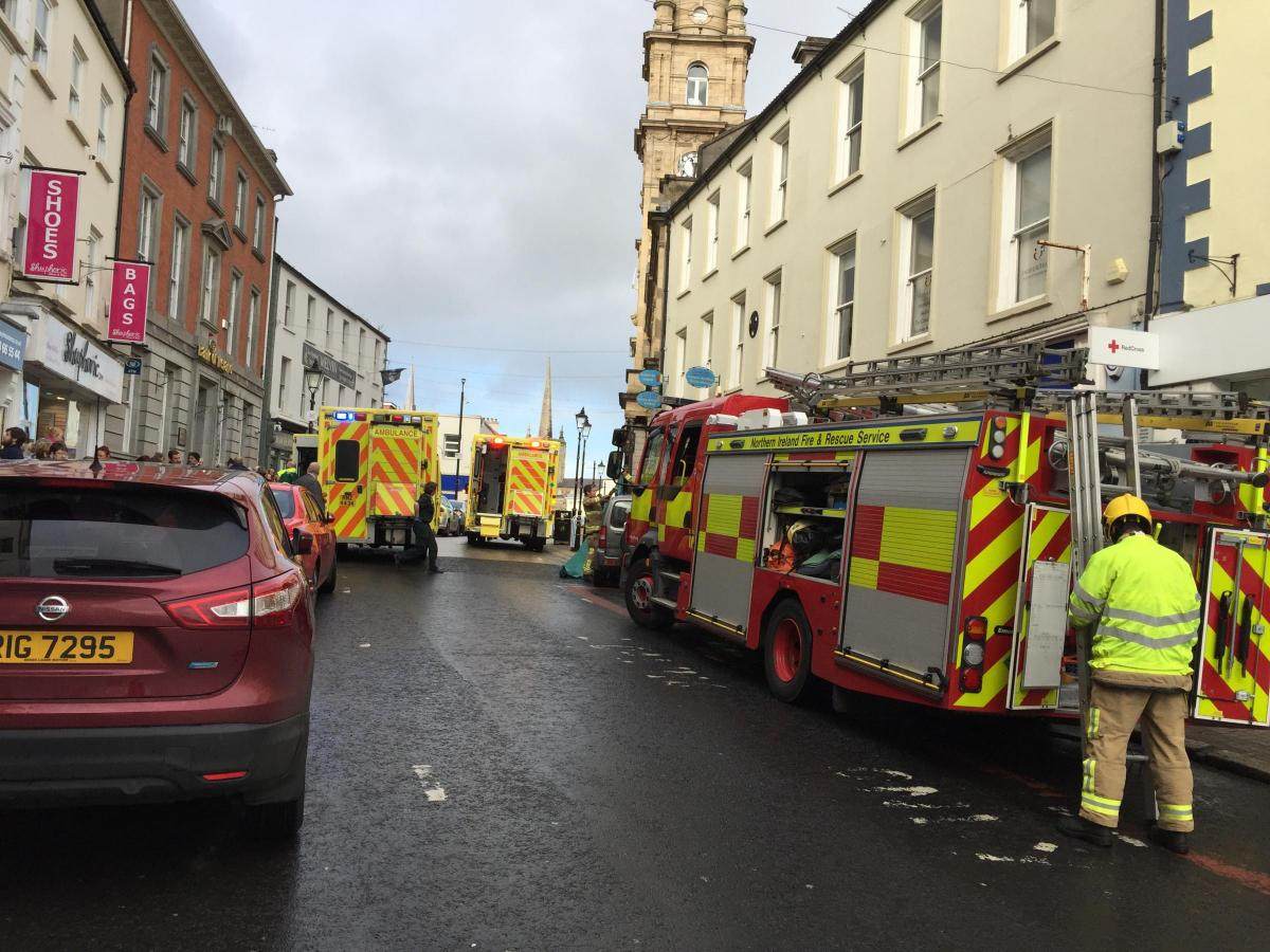 100cf81a6ee9a UPDATE: Five injured as vehicle crashes into shop window. BREAKING: Emergency  services attend a serious incident in Enniskillen