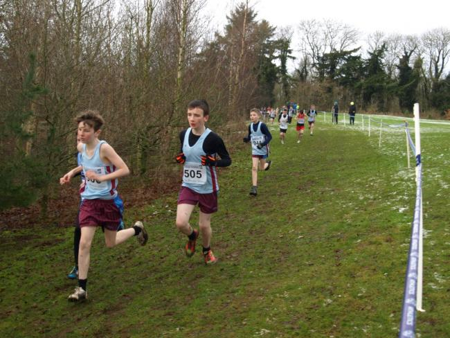 St. Michael's Donnacha Morris, Cain Fitzpatrick and Jamie Devine pack well at U13 level at Greenmount.