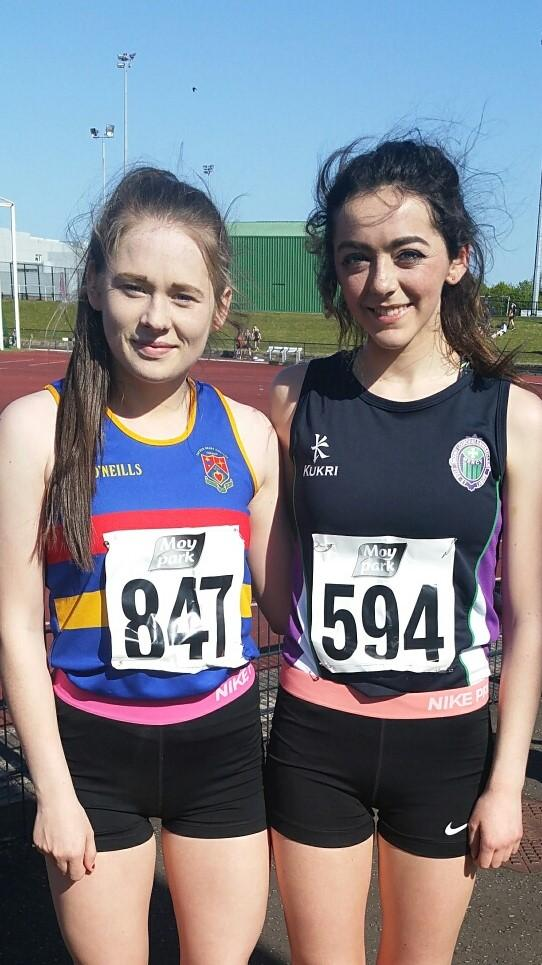 Edel Monaghan (right) who qualified in two events.