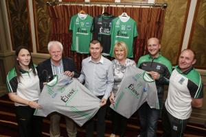 Teresa McNabb, Fermanagh Coaching and Games Manager, Greg Kelly, Fermanagh County Chairman, Ger Treacy, Chairman of Club Éirne, Patricia Durnien, Fermanagh Treasurer, Shaun Doherty, Football Co-ordinator and Eoin Bradley, Fermanagh Athletic Development O