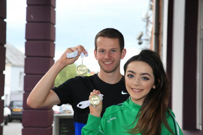 Mark Hoy claimed gold in the Mens Senior 800m and Edel Monaghan gold in the U18-U20 Girls 1500m at the Ulster & NI Track and Field Championhips last weekend.