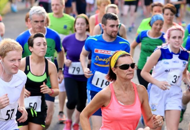 Runners make their way around the course at the Irvinestown 10K last year.