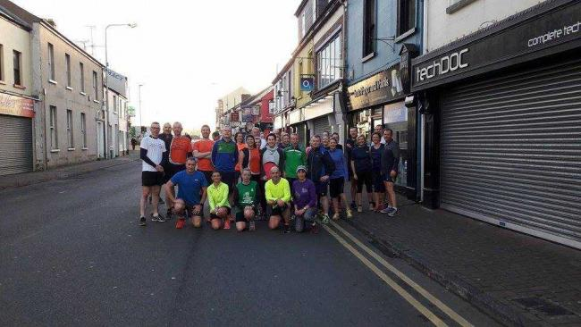 The group of Fermanagh runners who ran the Spooktacular course to raise money for Project Africa last October.