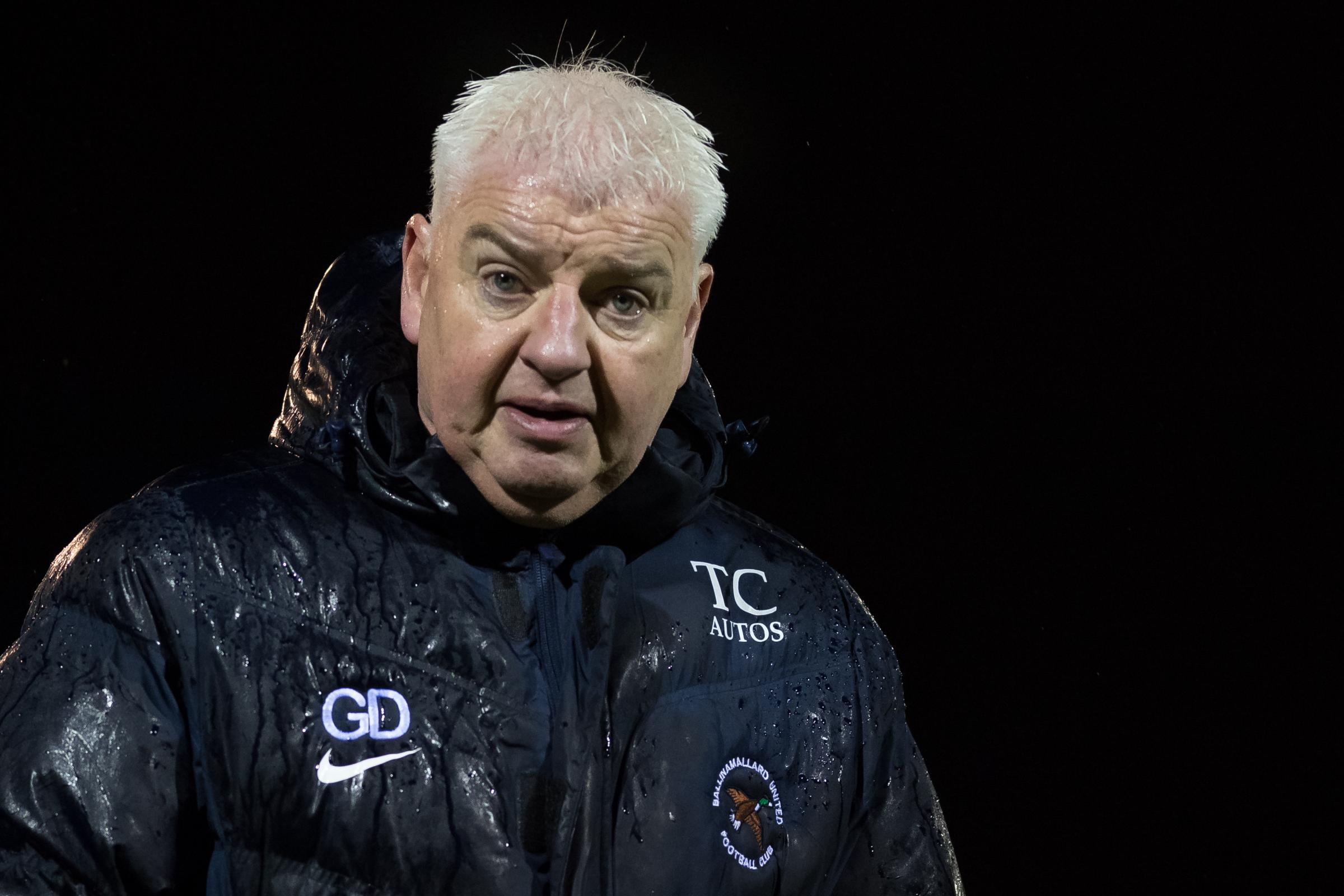 Ballinamallard manager Gavin Dykes watched his side progress to the next round of the Irish Cup with a 4-2 win over .