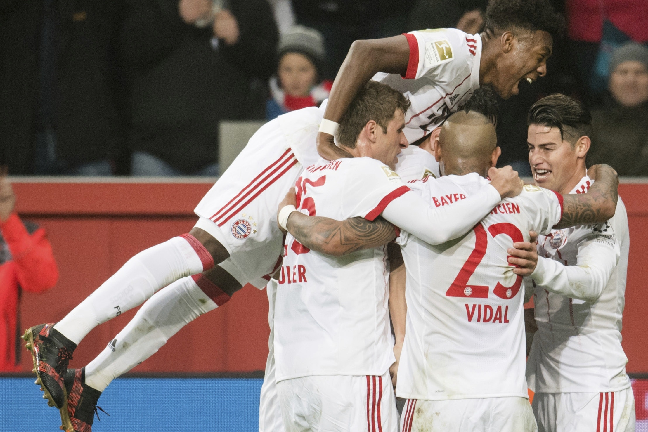 Bayern Munich beat Bayer Leverkusen 3-1 to open up a 14-point gap at the top of the Bundesliga (Marius Becker/AP)