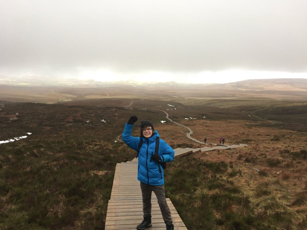 Dara McAnulty on Cuilcagh, during his 45km ramble to raise money to help protect birds of prey.