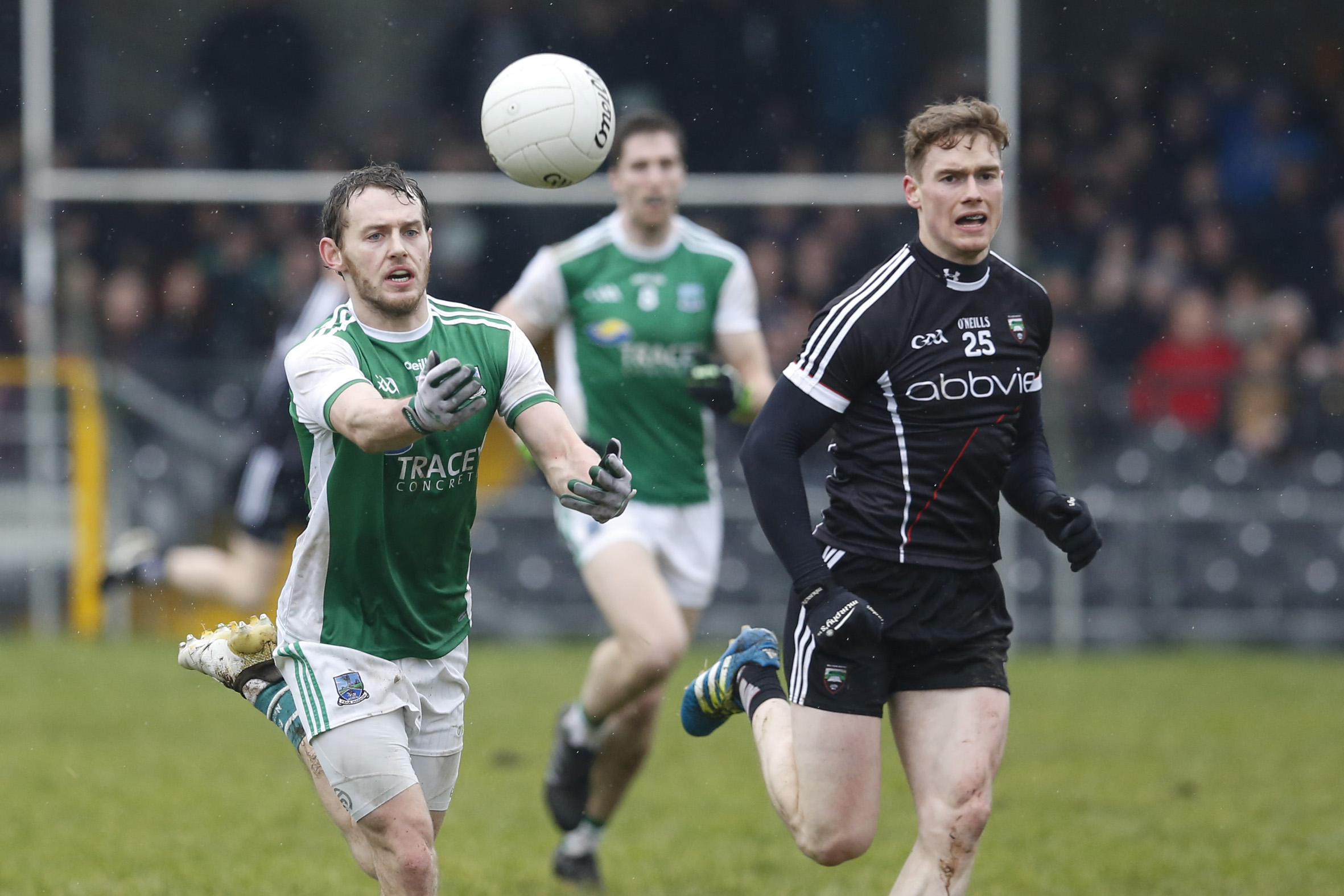 Declan McCusker moves the ball forward during Fermanagh's win over over Sligo in Markievicz Park on Sunday.