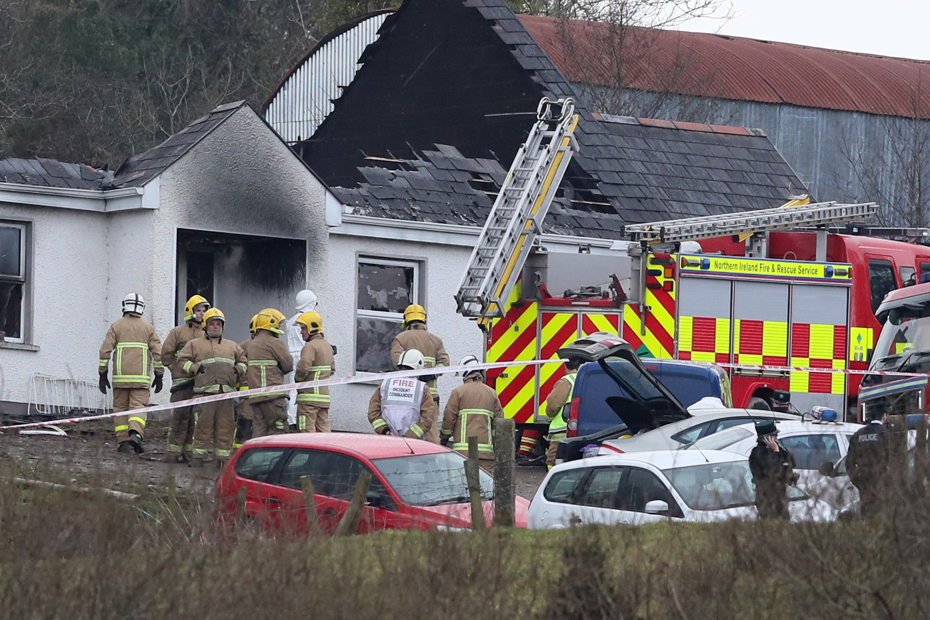 Body of baby found bringing Derrylin fire death toll to four