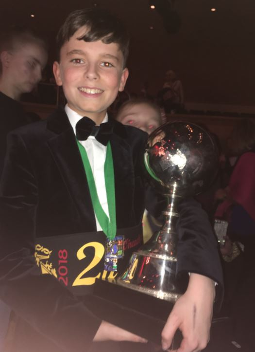 Colum Higgins (13), from Belcoo, has come second in his category at this year's Irish dancing world championships, held in Glasgow.
