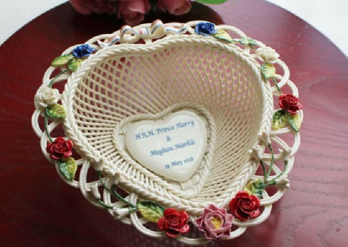 Belleek launches limited edition basket inspired by Harry and Meghan