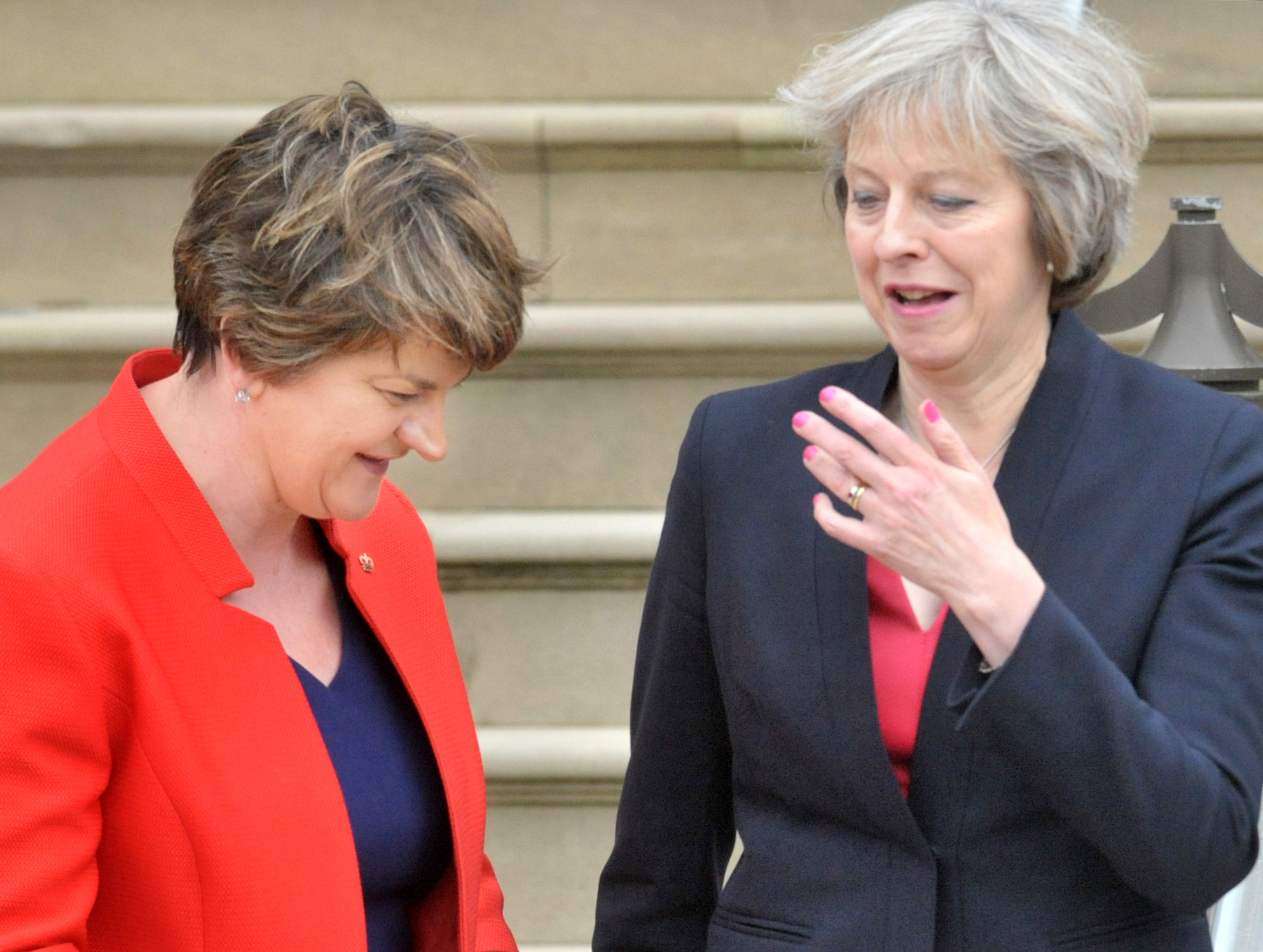 Alan Lewis- PhotopressBelfast.co.uk        9-6-2017 Theresa May has announced that, following the GE17 election results, that she will form a minority government with support of the DUP's 10 Westminster MP's.  Mrs May has spoken to DUP leader Arle