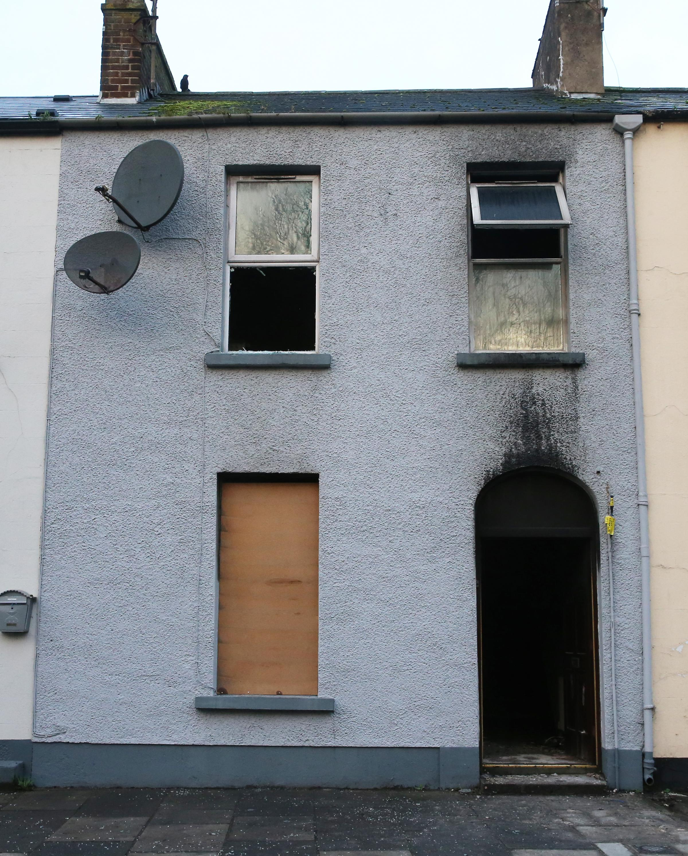 The house at Sedan Terrace which was destroyed in an arson attack on Wednesday