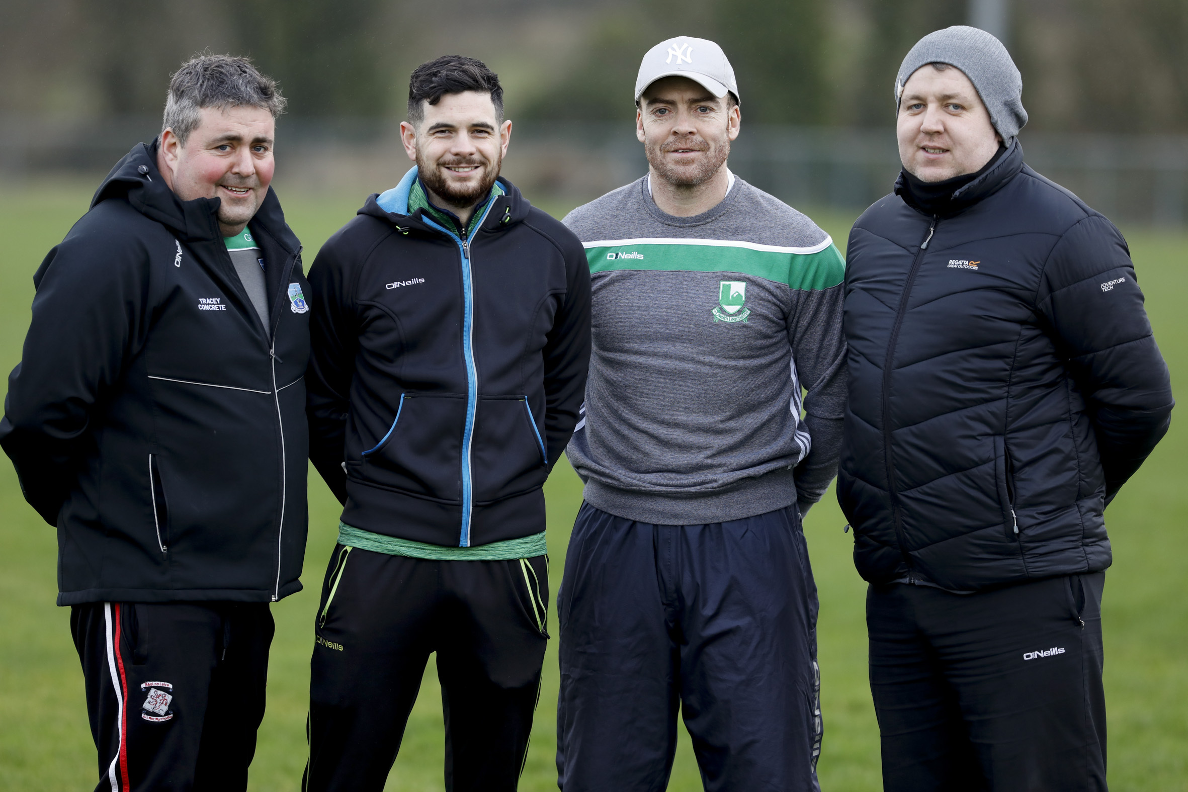The Fermanagh U20 management team, Gerard McGahey, Charlie Kane, Ollie Fay and Kevin O'Rourke.