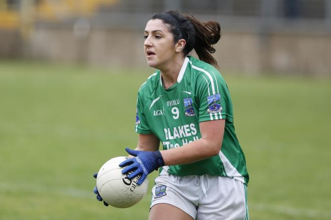 Danielle Maguire maintains possession.
