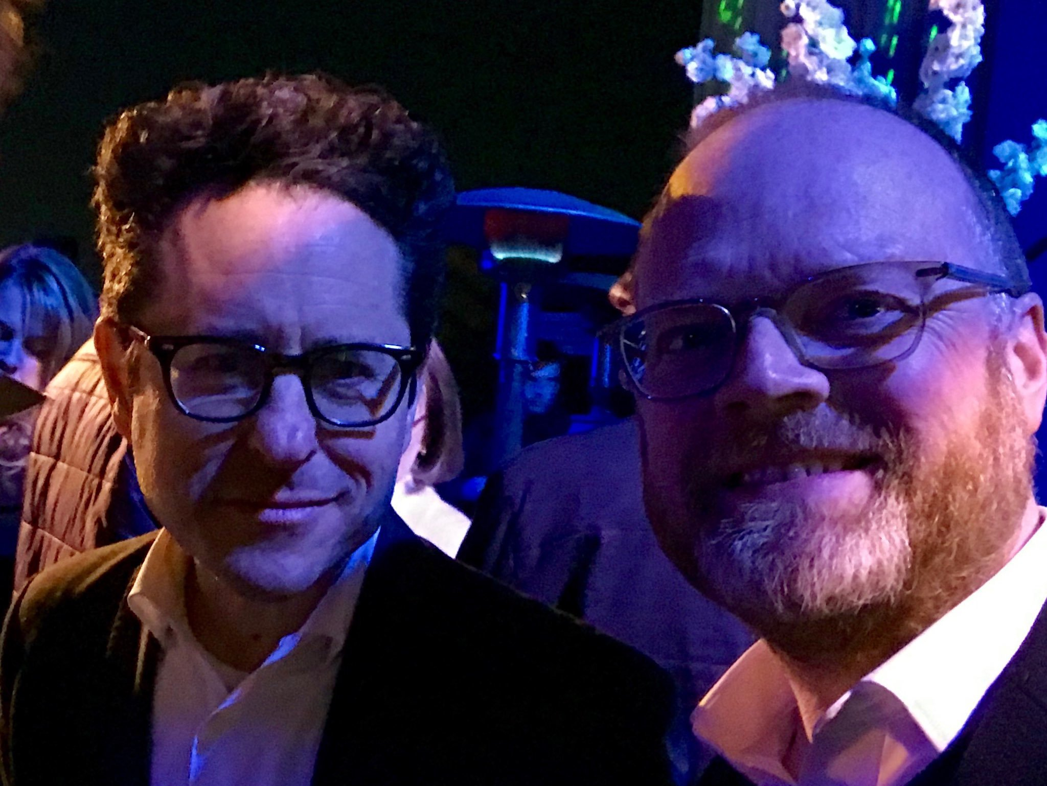 Trevor Birney (right) with J.J. Abrams.
